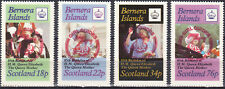 W BERNERA 007-10 NON POSTAL GIRL GUIDES RED OVPT ON QUEEN ELIZABETH PERF SET