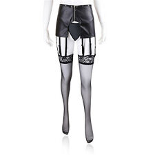 New Fetish Faux Leather Pants With Garters,Suspenders,Fancy Dress Outfit 5547