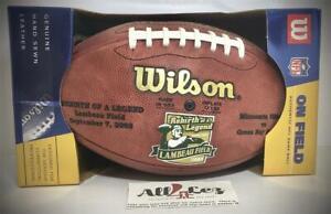 "'03 PACKERS LAMBEAU FIELD ""REBIRTH OF A LEGEND"" NFL ON FIELD WILSON FOOTBALL NEW"