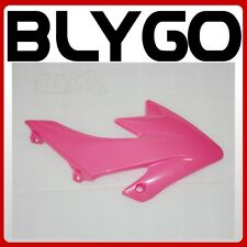 Pink Plastic Front LEFT Tank Side Guard Fender CRF50 Style PIT Trail Dirt Bike
