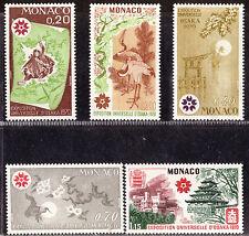 MONACO 1970 - EXPO OSAKA 1970 - MNH #753-757 COMPLETE SET 1170