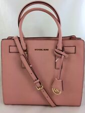 New Authentic Michael Kors Dillon NS Large SaffiannLeather Satchel Purse Pink