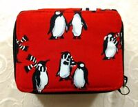 NWT Vera Bradley Travel Pill Case in Playful Penguins Red #181013-559