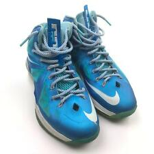 newest 9ec85 4900d Nike Lebron 10 Blue Diamond Windchill Mens Basketball 542244-400 Sneaker Sz  9
