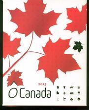 2013 S$10 Canada GILT O Canada 12 Coin Wooden Box Set OGP No Coins