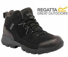 Regatta Mens Holcombe Mid Waterproof Walking Hiking Trail Black Boots RMF459