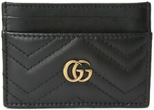 Authentic Womens Gucci Marmont Card Holder Black Wallet