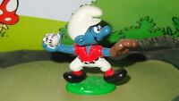 Smurfs Baseball Pitcher Smurf Sports Figurine 20166 Rare Vintage Display
