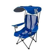 Kelsyus Premium Portable Camping Folding Lawn Chair with Canopy, Blue | 80185