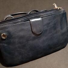 HOBO International Bess Blue Convertible Handbag Crossbody Clutch Leather NWT