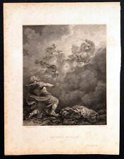 ASCENT OF ELIJAH 1791 William Byrne - Philip James de Loutherbourg ETCHING