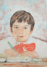 1991 CHILD PORTRAIT OIL PAINTING SIGNED