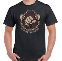 COMBATTIMENTO Divertente da uomo t-shirt palestra allenamento Bodybuilding