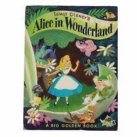 Walt Disney Alice in Wonderland 1951 First Edition Big Golden Book 9-1/2x 12-1/2