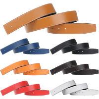 -Replacement Belt H Belt Men's Reversible Genuine Leather Belt Strap (No Buckle)