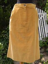 Vintage Izod Lacoste for Her corduroy A line skirt yellow gold Euc sz 8 Vtg