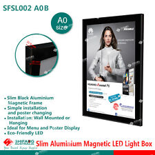 A0 Black Slimline Aluminium Magentic LED Light Box/Menu Board/LED Display