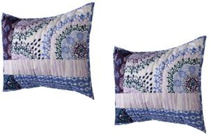 Set of 2 Xhilaration Patchwork Quilt Pillow Shams - Standard/Queen (20 x 26) NEW