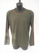 T-shirt Roberto Cavalli,color verde bottiglia con inserti in pelle,tg 54