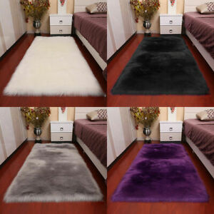 Stylish Anti-Skid Fluffy Rug Shaggy Area Living Room Carpet Floor Mat Soft Gift
