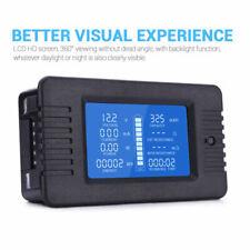 100A DC Digital Monitor LCD Volt Amp Watt Meter Battery Solar Power Analyser New