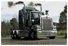 KENWORTH T908  TIN SIGN 'SMOKIN ' 80 x 53 cm. X LARGE KENWORTH T908 TIN SIGN