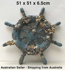 Sea Coral Large Wheel Ornament Statue Wall Hanging Artwork Home and Garden Decor