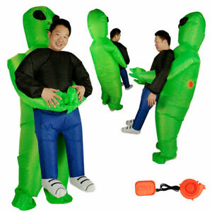 Adult Inflatable Costume Fancy Dress Funny Scary Alien Halloween Costume Outfit