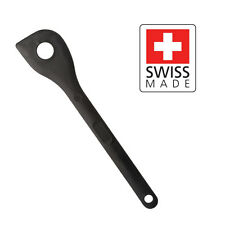 Chef's Choice: Fiberglass Reinforced Polyamide Cooking Spoon Black with Hole