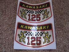 KAWASAKI SIDE COVER / OIL TANK EMBLEMS (2)  56018-034 B1 LA 125