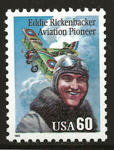 US Scott #2998, Single 1995 Rickenbacker 60c FVF MNH