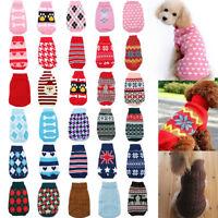 New Dog Pet Cat Warm Jumper Sweater Clothes Knitwear Costume Coat Apparel  IE