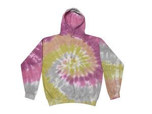 Tie Dye Multi-Color Hoodies, Kids Sizes 80% Cotton, L/S, Pockets No Zipper