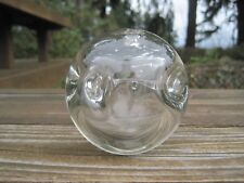 Vintage H Hugh Jenkins Blown Glass Ball Vase Big Island Hawaii Signed 1984