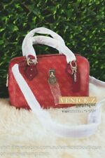 BNWT GUESS JENSEN Large Box Shoulder Bag Handbag Tote Satchel Red