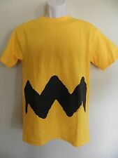Peanuts Charlie Brown T-Shirt Yellow Black Zig Zag Chevron Adult Small Halloween
