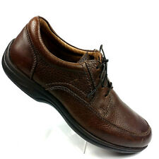ABEO SMART SYSTEMS-3820 TIE Women's Open lace Up Moc Toe Brown Leather Size 7.5M