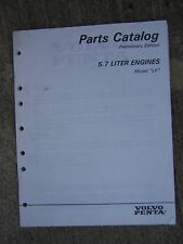 "1997 Volvo Penta ""LK"" 5.7 Liter Marine Engine Parts Catalog Preliminary Ed. U"