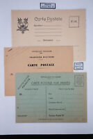 France Lot of 3 Early WWII Field Service Postcards