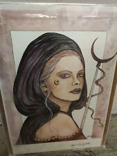 Hallewes the great Sorceress 11x16 signed Jessica Galbreth print Le 4/75 Witch