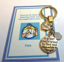 Thank you gift for Swimming Coach Key Ring Unique Handmade show appreciation