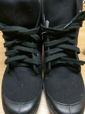 canvas military boot punk goth army size 38  black french desert