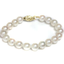 Akoya Cultured Pearl  Bracelet  8 - 8.5  14kt Gold  7""