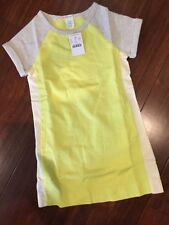 NWT 5 Crewcuts J Crew Girls Dress Fun Yellow Color block Cozy Sweatshirt Pockets