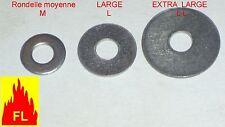 Rondelle inox A2  MOYENNE  M3 à M20  PAR 5;  10;  25 et 50;  boite sur demande