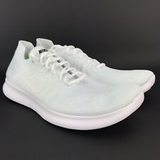 38557c743515c Nike Mens Free Rn Flyknit White White Running Shoes Size 14