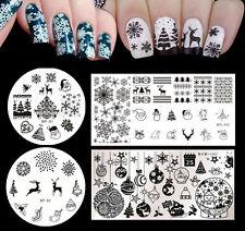 4pcs/set Born Pretty Christmas XMAS Nail Art Stamping Template Image Plates Kit
