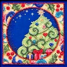 Mill Hill Jim Shore Beads Cross Stitch Kit ~ CHRISTMAS SCENES TREE #30-4104