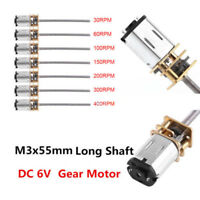 Micro Speed Reduction Gear Motor with Metal Gearbox Wheel DC 6V 30RPM-400RPM
