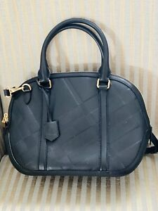 Burberry Orchard Tote Bowling Bag, Excellent Condition, Authentic W. Receipt